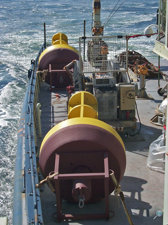 Model G-2000 buoys aboard RV Oceanus