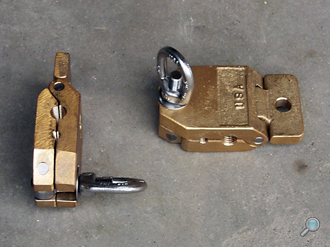 Bronze wire rope clamp for instrument casting
