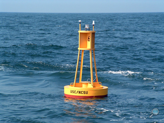 Model G-2000 surface buoy manufactured by MSI